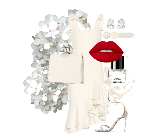 Evening look #6 - all white