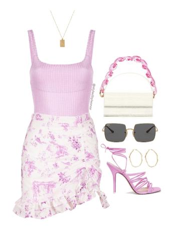 Summer Barbie Floral Look