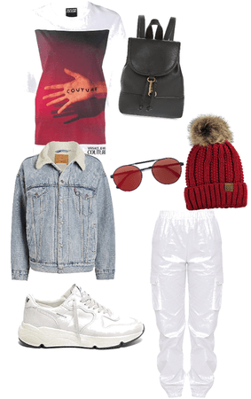 Red & White Casual