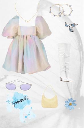 summer vibe poofy dress