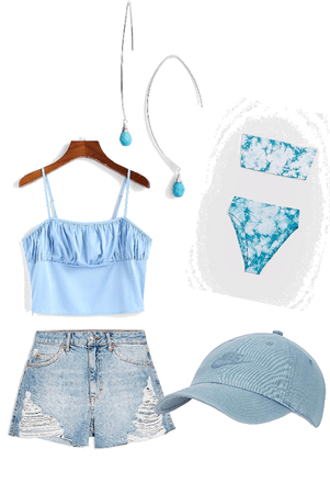 only blue summer outfit