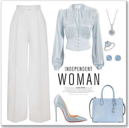 White & light blue outf.