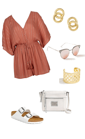 pink summer romper