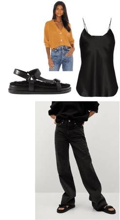 Wide Flare Black Jeans