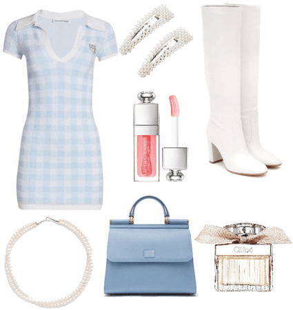 school blue outfit