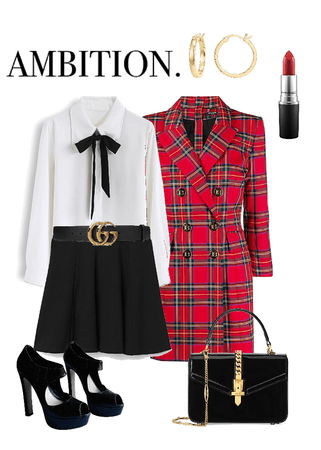 Plaid coat, Gucci