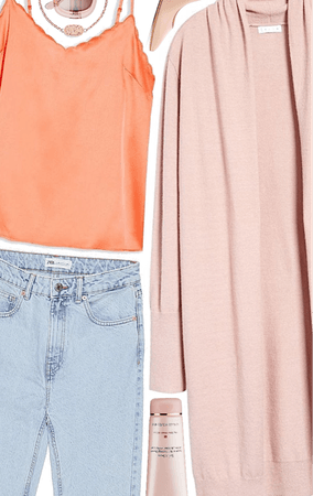outfit inspiration | peach casual