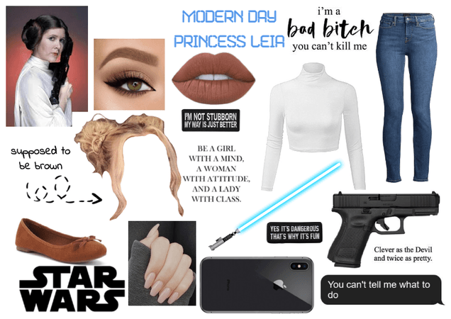 Modern Day Characters Six: Princess Leia