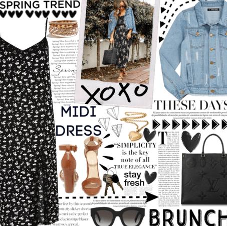 Midi Dress Style.