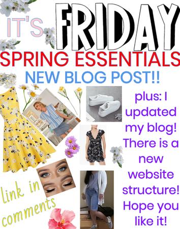new blog post: spring essentials