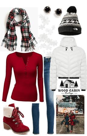 Winter break outfit