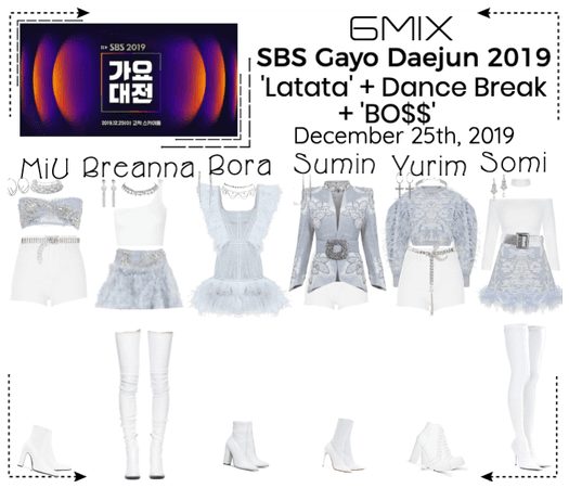 《6mix》SBS Gayo Daejun 2019 Performance