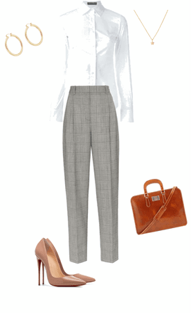 white and trousers