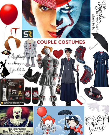 Pennywise & Mary Poppins = SAME SPECIES 😂 couple costumes