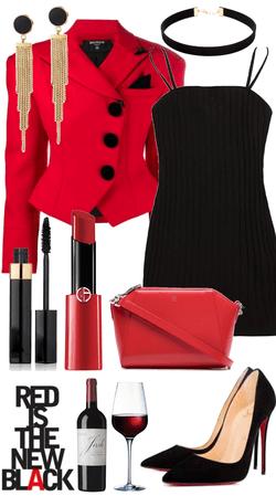 elegant red and black.