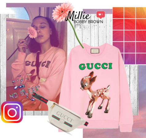 Millie Bobby Brown wearing Gucci