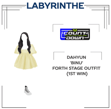 Dahyun binu forth stage outfit