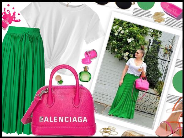 Green, White, Pink