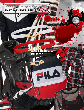 Black, red and White aesthetic