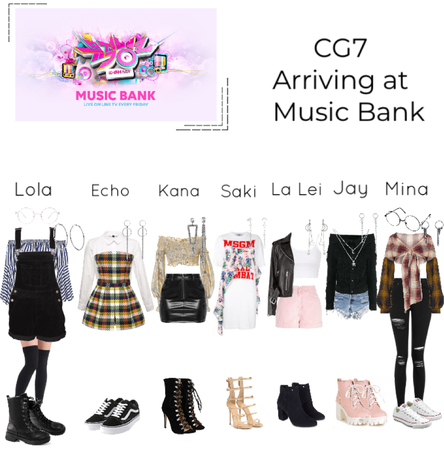 CG7 arriving at Music Bank