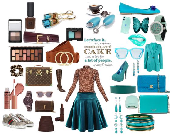 Chocolate and Teal, Teal and Chocolate