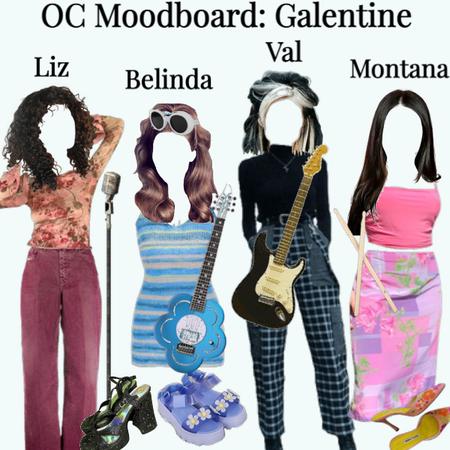 oc moodboard: galentine