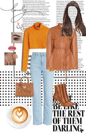 orange amd brown
