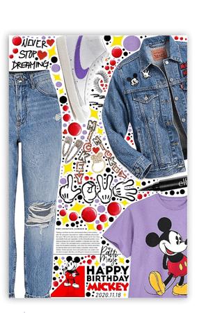 Happy Birthday Mickey 💜🖤