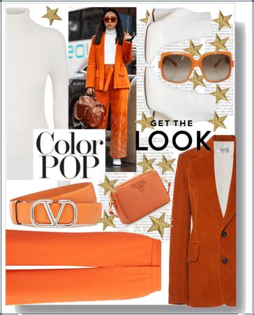 Paris Fashion Week in a Orange Style