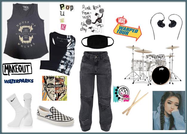 Female Pop Punk Drummer
