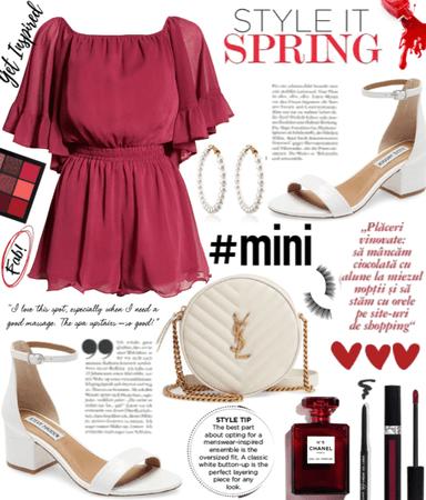 Mini Red Romper