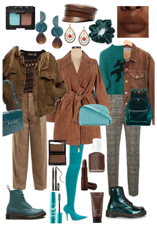 Teal & Chocolate