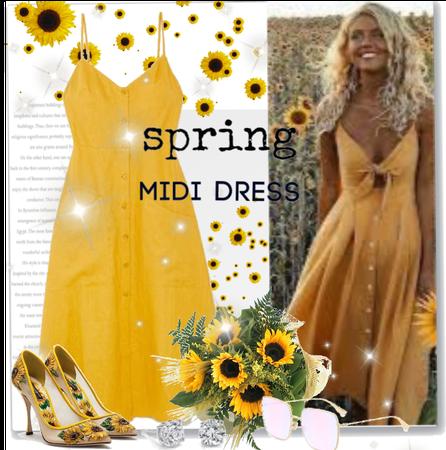 Sunflower Midi Dress.