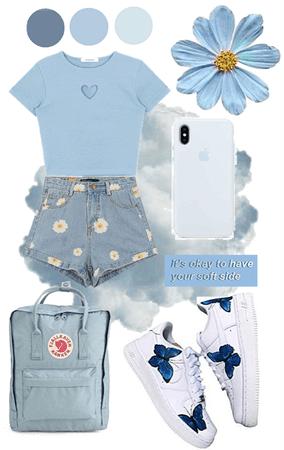 blue aesthetic soft girl💙