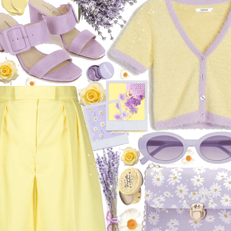 Pastel Yellow And Lavender  Spring is Here