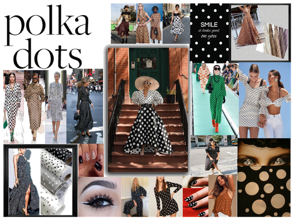 polka dot fashion outfits