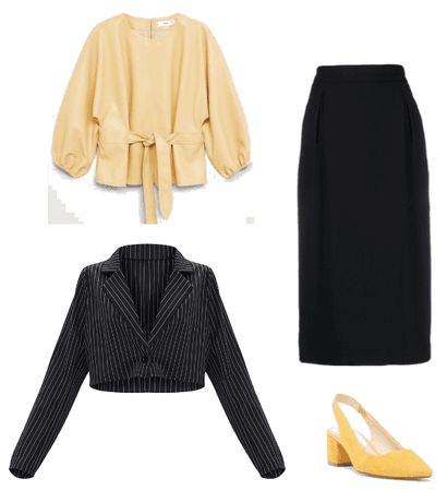 Interview outfit for hourglass figure
