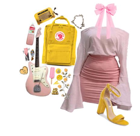 libra: yellow&pink