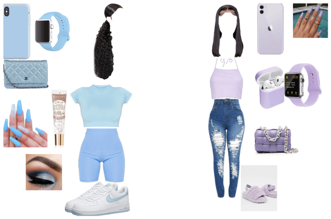 lavender and baby blue