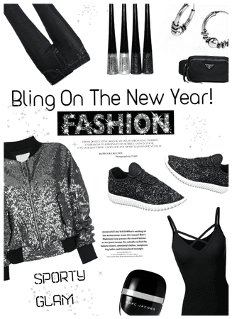 Bling on the new yr! Sporty Glam