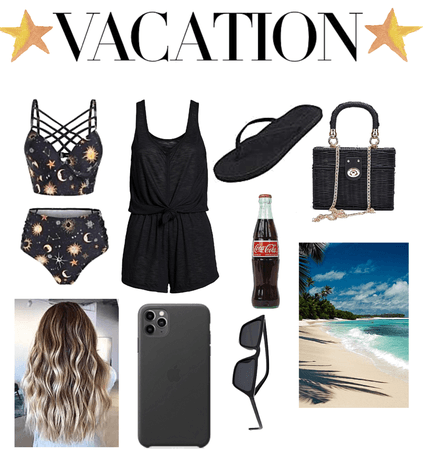 black vacation outfit