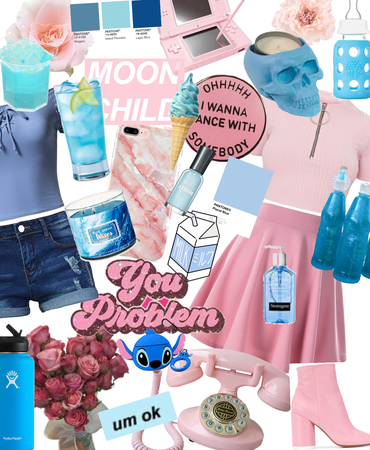 pink and blue chic