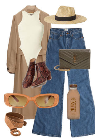 brown autumn outfit