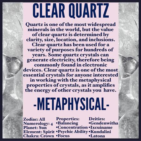 A GUIDE TO CLEAR QUARTZ