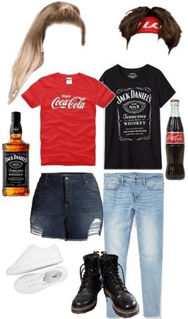 Jack n Coke Couples Costume
