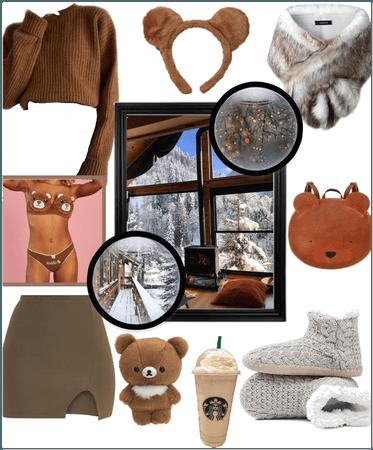 Winter getaway with my teddybear!