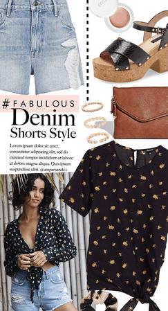 worn denim