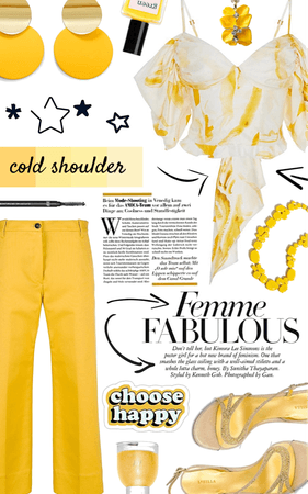 yellow cold shoulder