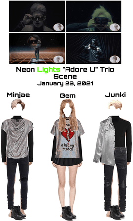 "Neon Lights ""Adore U"" MV Trio Scene"