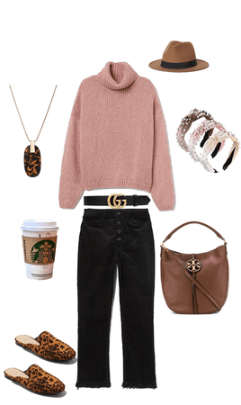 casual with pop of leopard !